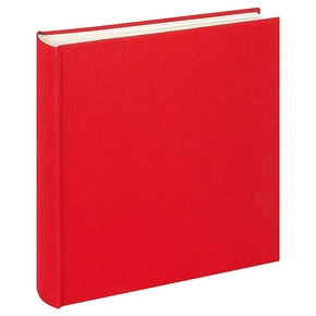 Design album Cloth linen cover 30x30cm red